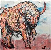 Sale 8853A - Lot 5038 - Yosi Messiah - Fire Bull 102 x 102cm