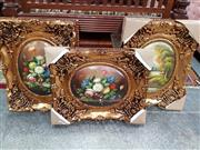 Sale 8836 - Lot 2029A - Set of 3 Reproduction Artworks in Ornate Frames