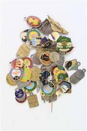 Sale 8860 - Lot 38 - Tin Containing Rugby League And Various Trade Union Badges, Together With Others