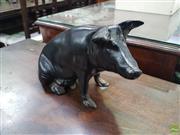 Sale 8601 - Lot 1438 - Cast Iron Piggy Bank