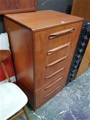 Sale 8661 - Lot 1087 - G-Plan Teak Six Drawer Tall boy