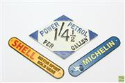 Sale 8644 - Lot 99 - Vintage Aluminium Petrol Sign with 2 Replica Signs