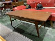 Sale 9002 - Lot 1044 - Quality Danish Teak Coffee Table (h:43 x w:120 x d:50cm)