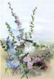 Sale 9067 - Lot 547 - Marian Ellis Rowan (1848 - 1922) - Cichoriun Intyeus (Chicory) 52.5 x 36.5 cm (frame: 73 x 57 x 3 cm)