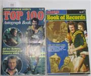 Sale 8404S - Lot 66 - Rugby League Week's Top 100 Autograph Book 1981, 130 pages, black & white and colour photos as published; plus Rugby League Week Boo...