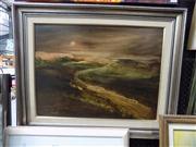 Sale 8437 - Lot 2016 - Norman Robins (1914 - 1988) - Moonrise 44 x 59cm
