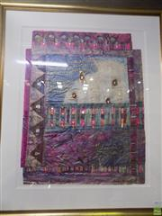 Sale 8557 - Lot 2033 - Shirley Brinsley Words of Achievement 14, 1990, mixed media, 87 x 69cm, signed and dated lower right