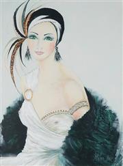 Sale 8865 - Lot 2016 - Marea Loty - Untitled (1920s Portrait) 76.5 x 58cm