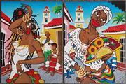 Sale 9011 - Lot 2071 - Pair of Carribbean Scene Paintings, 60 x 45cm