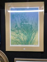 Sale 9019 - Lot 2089 - Pamela Griffith, Australiana III, Coloured Etching, Details Verso, 59.5x45cm