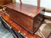 Sale 9031 - Lot 1059 - Small 19th Century Mahogany Chest, butt jointed with brass screws (key available)
