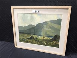 Sale 9053 - Lot 2069 - J H Craig, Connemara Island, limited edition decorative print, 53 x 64 cm