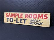 Sale 9092 - Lot 1027 - Hand painted double sided TO-LET sign (h:22 x w:87cm)