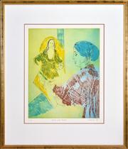 Sale 8363 - Lot 508 - Judy Cassab (1920 - 2015) - Artist and Model, 1996 49 x 39cm