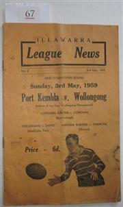 Sale 8404S - Lot 67 - Illawarra League News No. 2, 3 May 1959 - Port Kembla v Wollongong