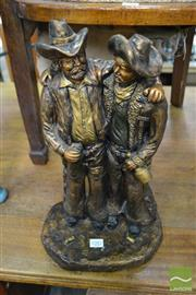 Sale 8515 - Lot 1081 - Plaster Statue of Man