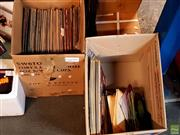 Sale 8582 - Lot 2334 - 2 Boxes of LP & Single Records