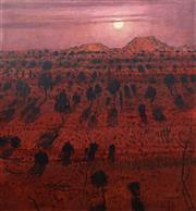 Sale 8693A - Lot 5018 - Clem Millward (1929 - ) - Moonlight Central Desert 122 x 114cm