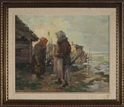 Sale 8941 - Lot 2052 - Juhan (Johannes) Schroder (C20th) - Old Friends, 1946 42.5 x 52 cm (frame: 60 x 69 x 4 cm)