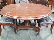 Sale 8917 - Lot 1085 - Late 19th Century Cedar Tilt-Top Table, with round top, turned pedestal & triform base