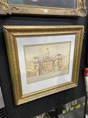 Sale 9019 - Lot 2077 - Clive Kidder Horse Guards Building, London watercolour and ink, 61 x 65cm (frame) signed