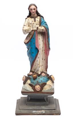 Sale 9150J - Lot 48 - 19th Century Santos figure of Mary, height 50cm