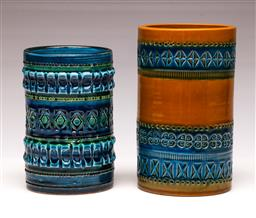 Sale 9107 - Lot 24 - Italian potted vases (2) (H 17cm and 15cm)
