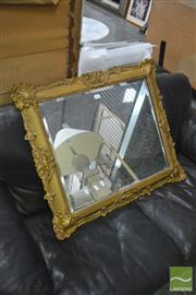 Sale 8398 - Lot 1089 - Vintage Gilt Gesso Mirror w Bevelled Plate