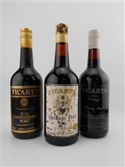 Sale 8514W - Lot 90 - 3x Vicarys Port - 1x 1976 Vintage Port, 1x 1981 Vintage Port, 1x 50th Anniversary Port