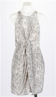 Sale 8640F - Lot 76 - A sleeveless Zimmermann silk dress with snakeskin print, size 1.