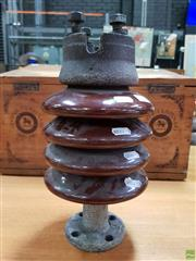 Sale 8625 - Lot 1055 - Vintage Ceramic Insulator of a High Voltage Transformer - Made in England