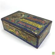 Sale 8643 - Lot 1020 - Arnotts Afternoon Tea Kings Own Mixed Biscuits Tin (1937)