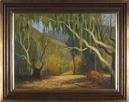 Sale 9091 - Lot 2009 - Charles Wheeler (1881 - 1971) Willow Trees oil on canvas, frame: 59 x 73cm, signed lower left -
