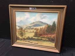 Sale 9087 - Lot 2094 - J Woods, Country Scene, 1982, oil on canvas, 55x 64cm signed lower right