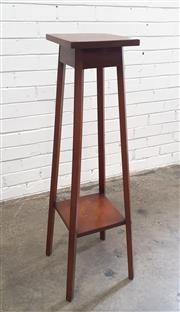 Sale 9071 - Lot 1056 - Tiered Timber Plant Stand (H:105 x W:25.5cm2)