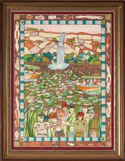 Sale 9155 - Lot 2058 - CHRISTOPHER VINE (1967 - ) - Kakadu National Park, NT 67 x 49.5 cm (frame: 81 x 64 x 4 cm)