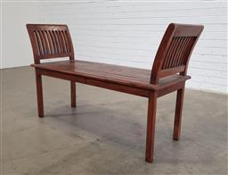Sale 9154 - Lot 1078 - Timber bench seat (h79 x w135 x d42cm)