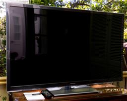 Sale 9256H - Lot 72 - A Panasonic Viera LED TV on stand with remote, screen 55 inches, model number TH-L55ET5A