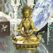 Sale 8304 - Lot 31 - Bronze Buddha Figure