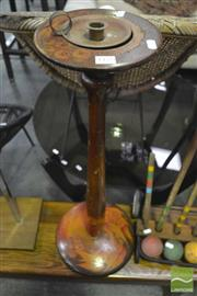 Sale 8337 - Lot 1040 - Pokerwork Candle Stand