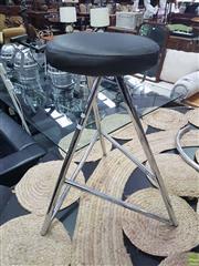 Sale 8620 - Lot 1040 - Set of Six Chrome Based Leather Seat Bar Stools