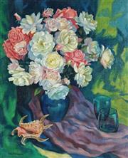 Sale 8870A - Lot 513 - Jean Isherwood (1911 - 2006) - Roses 54.5 x 44.5 cm
