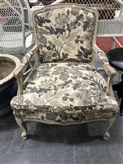 Sale 8878T - Lot 70 - French Style Louis XV Armchair in Floral Upholstery Height - 92cm Depth - 62cm Width - 73cm