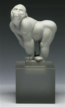 Sale 9144 - Lot 10 - Boxed Royal Copenhagen Gorilla by Pia Langelund (H:19.5cm)