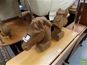 Sale 8472 - Lot 1002 - Pair of Horse Bust Statues