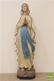Sale 8494 - Lot 43 - Ceramic hand painted statue of Mary
