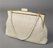 Sale 8493A - Lot 58 - A vintage Glomesh bag, like new (with original box) with orange silk lining, W26cm x H20cm