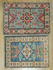 Sale 8589C - Lot 63 - 2 pieces Afghan Kazak, 90x60