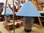 Sale 8601 - Lot 1441 - Pair of Royal Satsuma Style Table Lamps (4106)