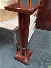 Sale 8611 - Lot 1008 - Turned Timber Pedestal (H: 114cm)